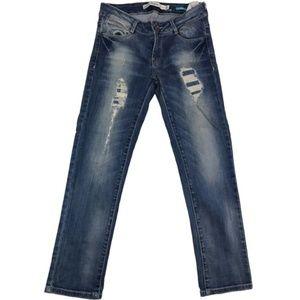 Zara distressed crop jeans Size 4